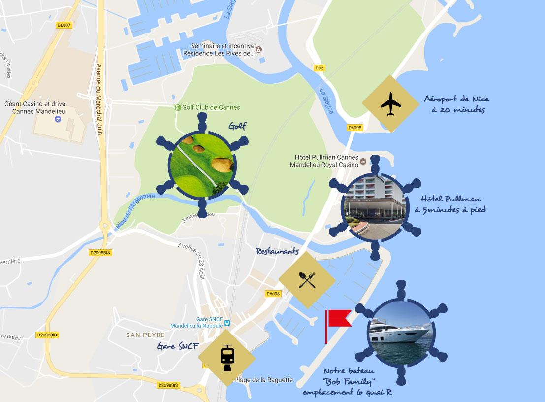 BOB FAMILY - plan du port de Mandelieu